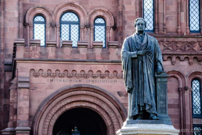 071218_8760 John Smithson Statue and Smithsonian Castle.