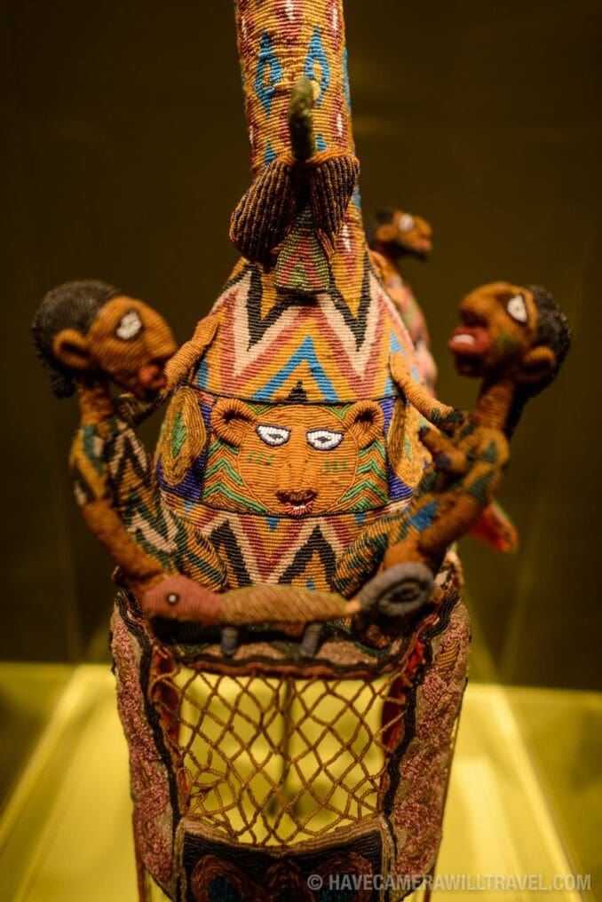 183-15003341 Smithsonian National Museum of African Art Crown from Nigeria.
