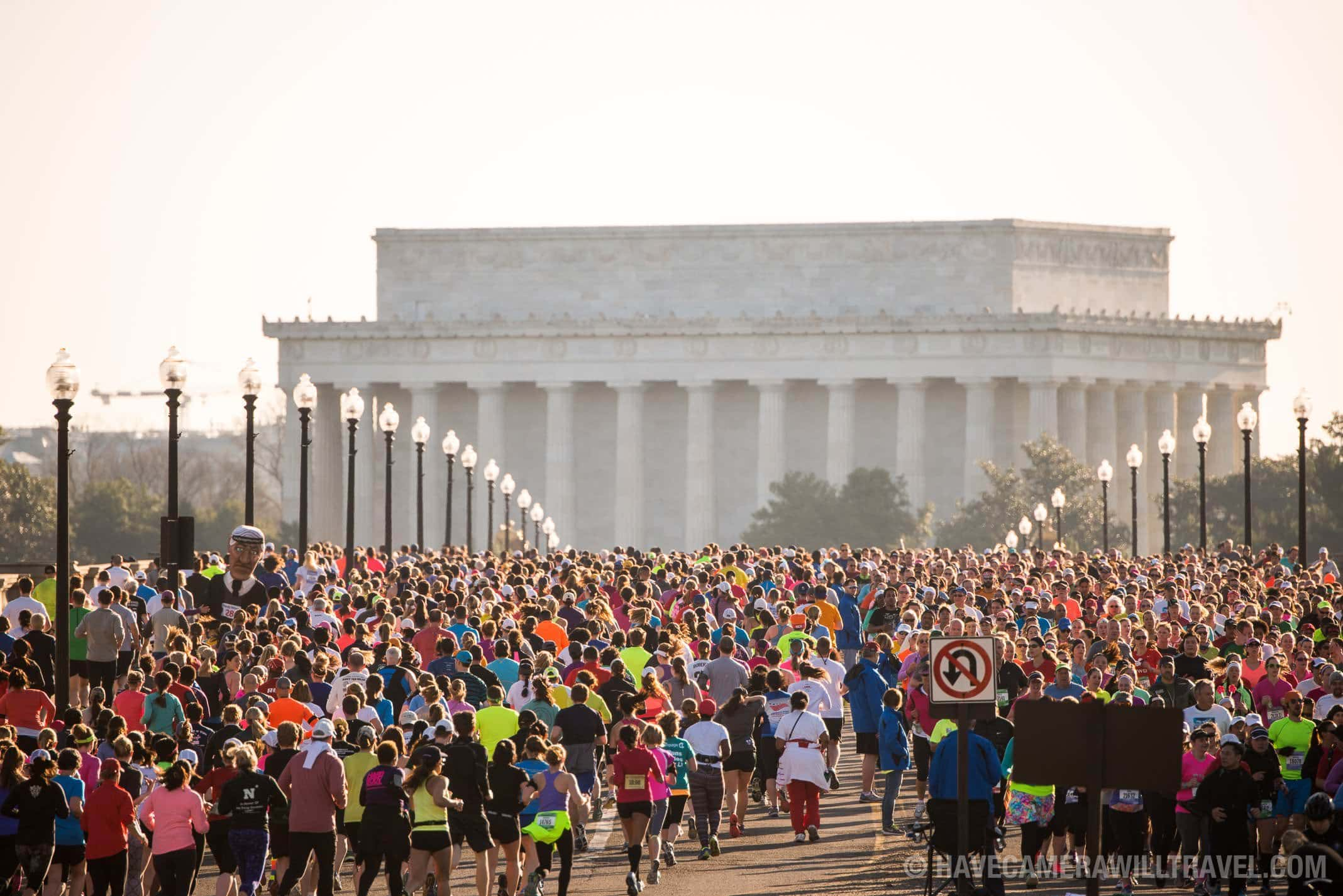 Cherry Blossom 10-Miler Washington DC  with Lincoln Memorial