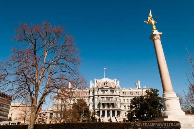 First Division Monument & Eisenhower Executive Office Building