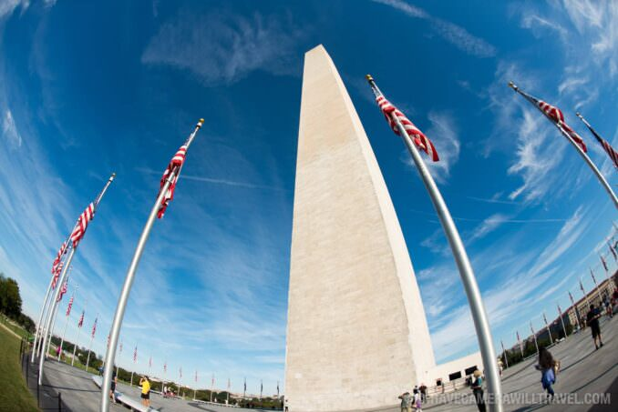 Fisheye View fo the Washington Monument