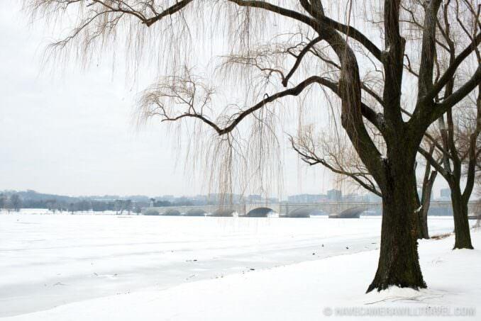 Frozen Potomac in the Snow