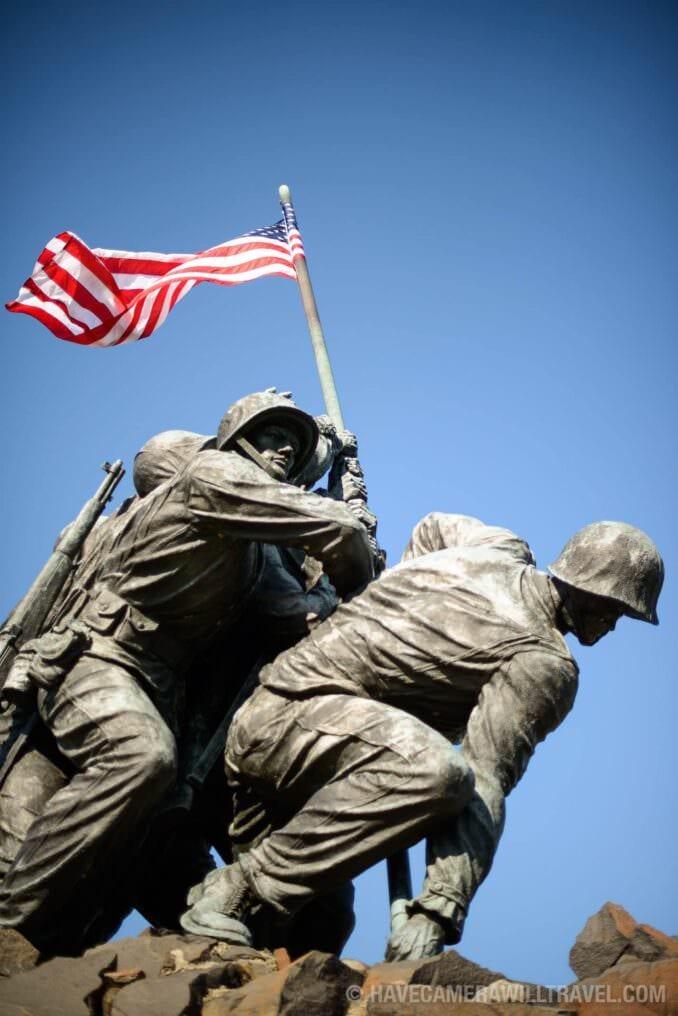 Iwo Jima Memorial in Arlington VA Soldiers