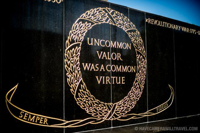 Iwo Jima Memorial in Arlington VA Uncommon Valor