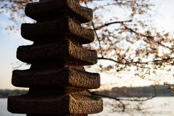 Japanese Pagoda at the Tidal Basin in Washington DC