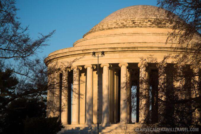 Jefferson Memorial in Golden Light Washington DC