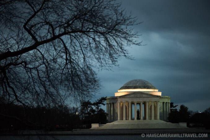 Jefferson Memorial in Under Threatening Skies in Washington DC