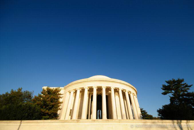 Jefferson Memorial with blue sky