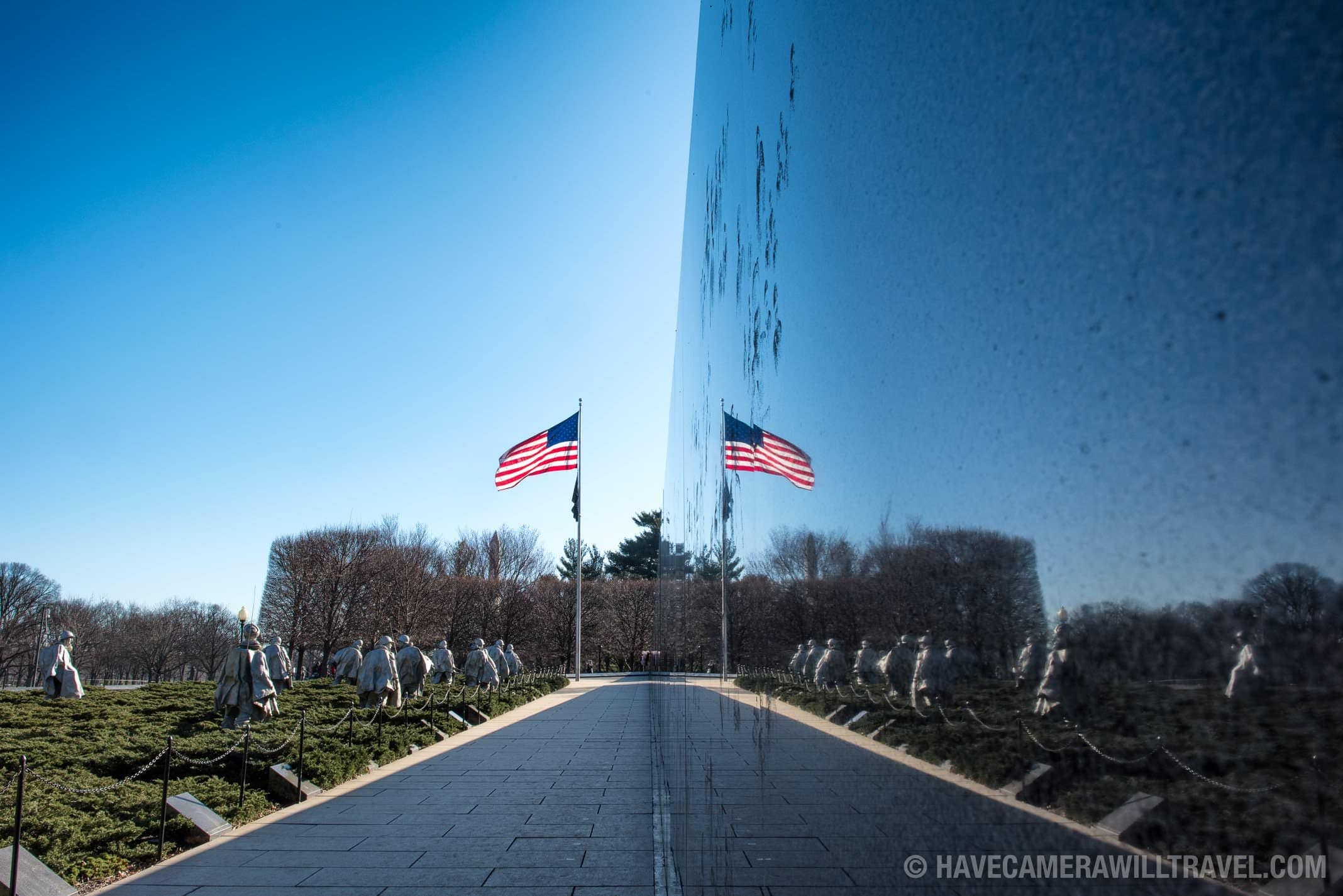 Korean War Veterans Memorial Reflection, Washington DC