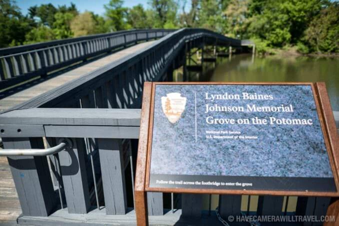 LBJ Memorial Grove Washington DC Bridge and Sign