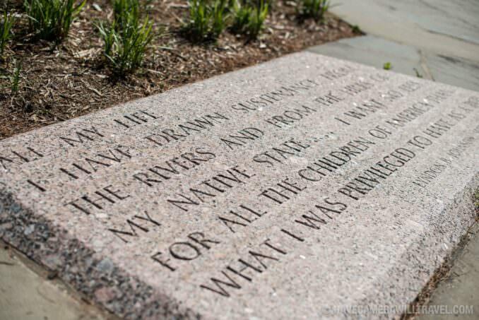 LBJ Memorial Grove Washington DC Inscription