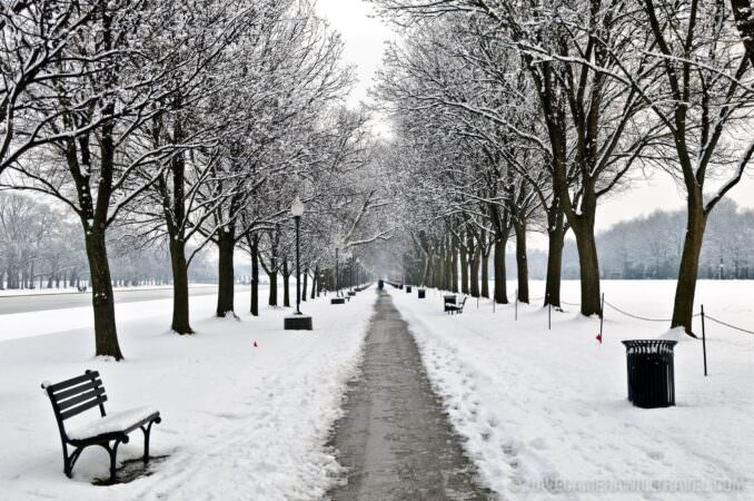 National Mall in the snow (Photo)