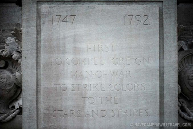 Plaque at the John Paul Jones Memorial in Washington DC