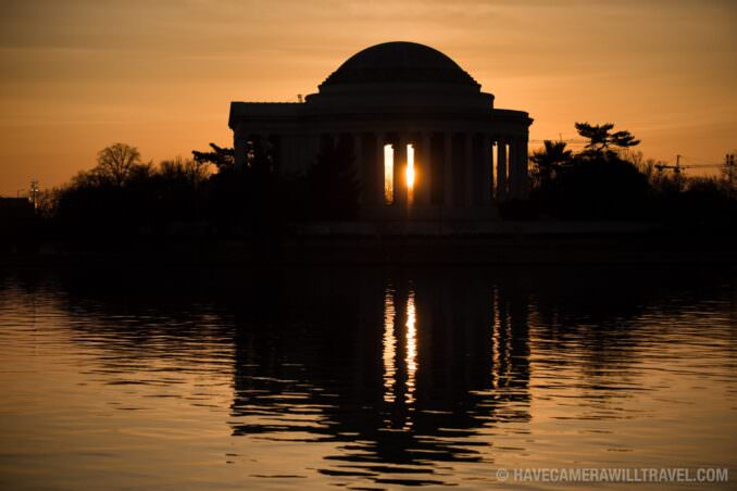 Rising Sun with the Jefferson Memorial in Washington DC