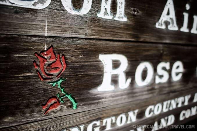 Rose Garden in Arlington Virginia Sign Close-up