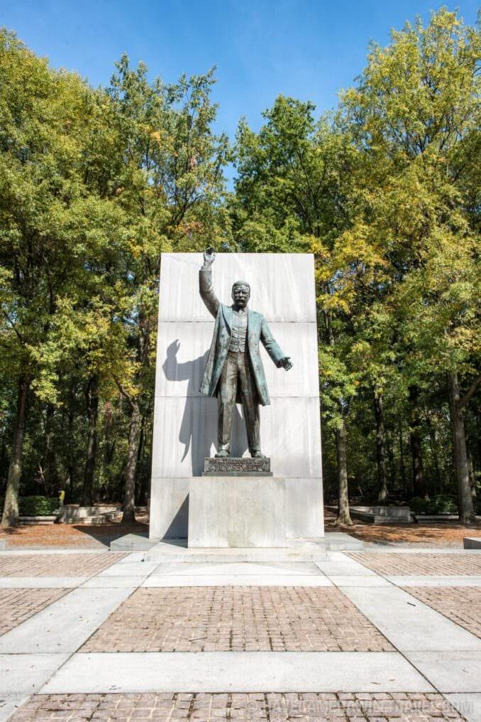 Theodore Roosevelt Memorial Statue Portrait