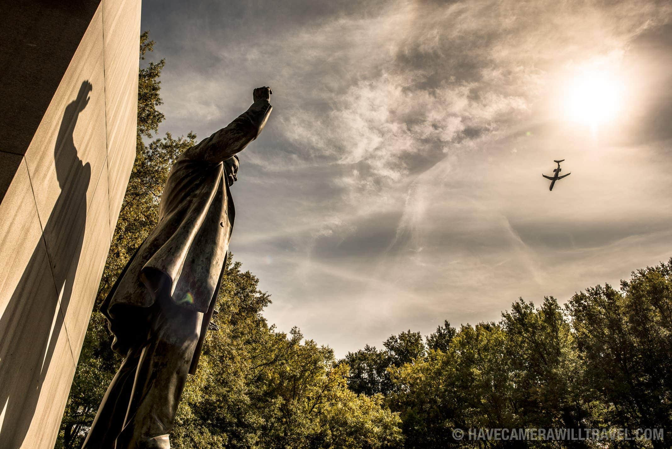 Theodore Roosevelt Memorial with Plane and Sun
