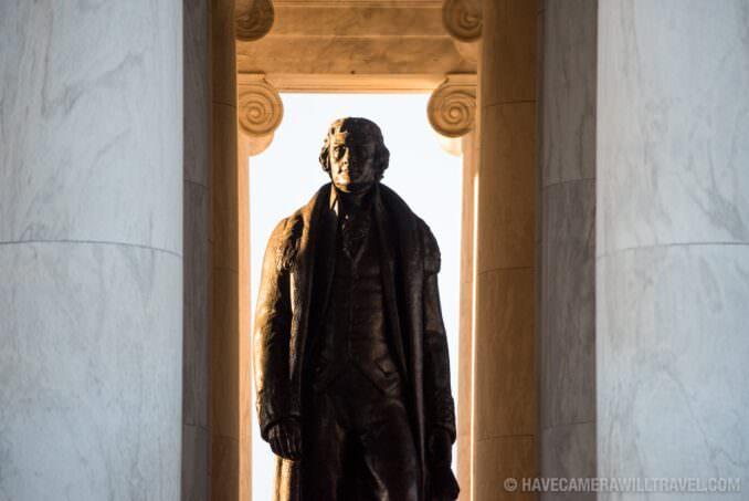 Thomas Jefferson Statue in Jefferson Memorial Washington DC