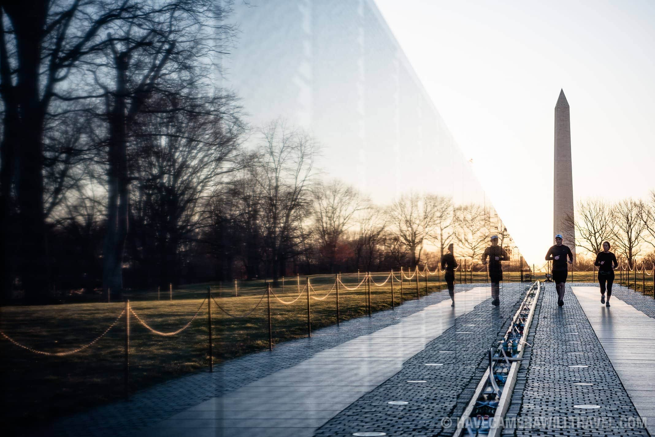 Vietnam Memorial, Washington DC, at Sunrise