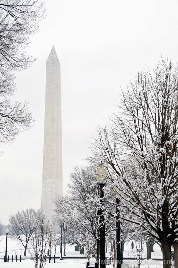 Washington Monument After a Snow Storm