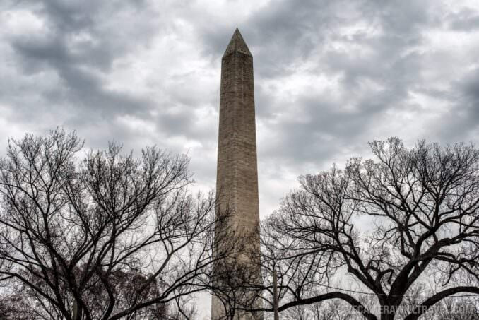 Washington Monument in Winter
