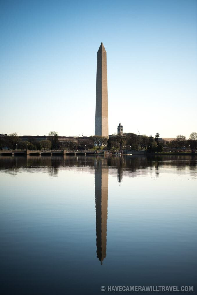 Washington Monument Reflected on the Tidal Basin