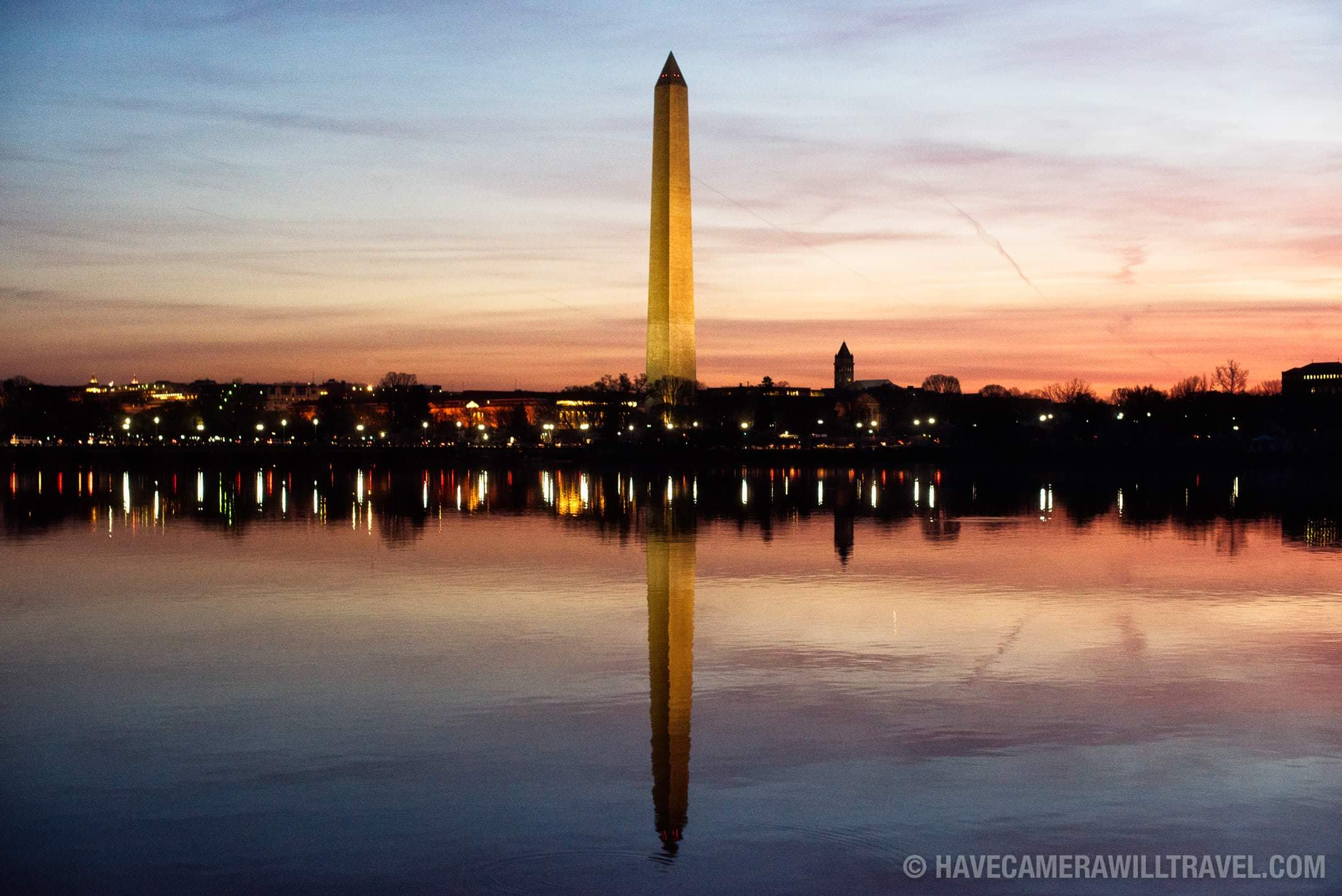 Washington Monument Reflected on the Tidal Basin Predawn