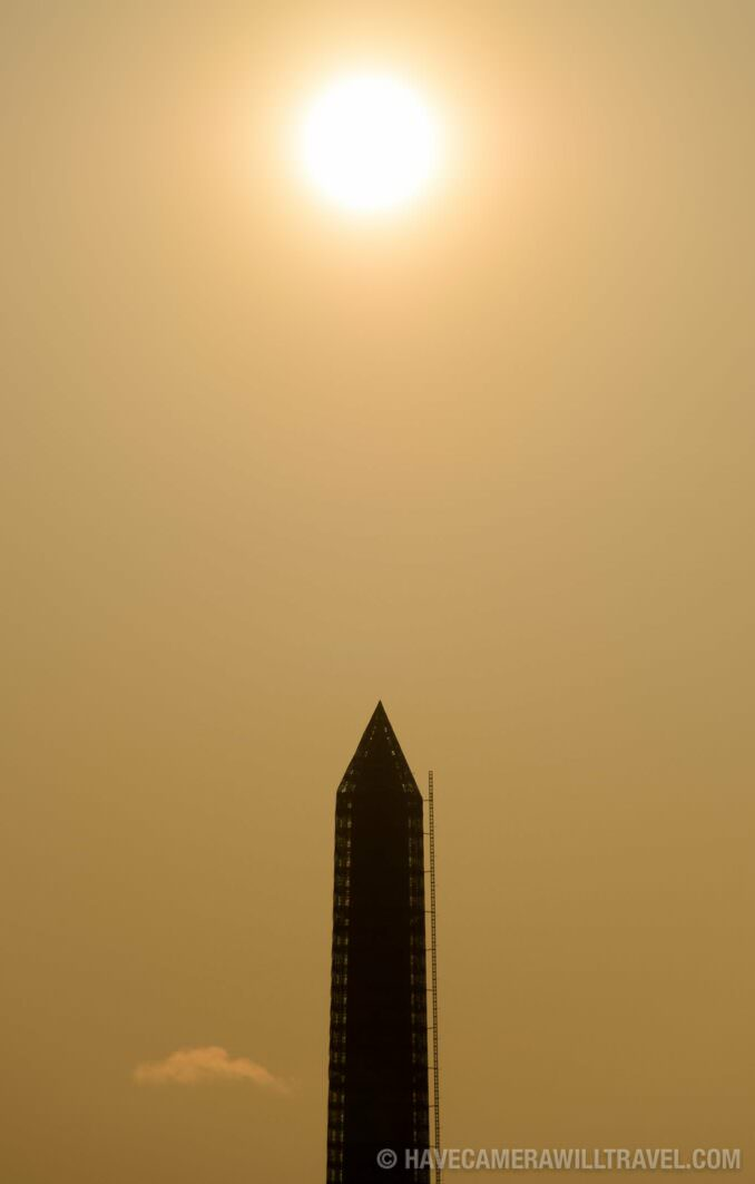 Washington Monument Silhouetted by Early Morning Sun