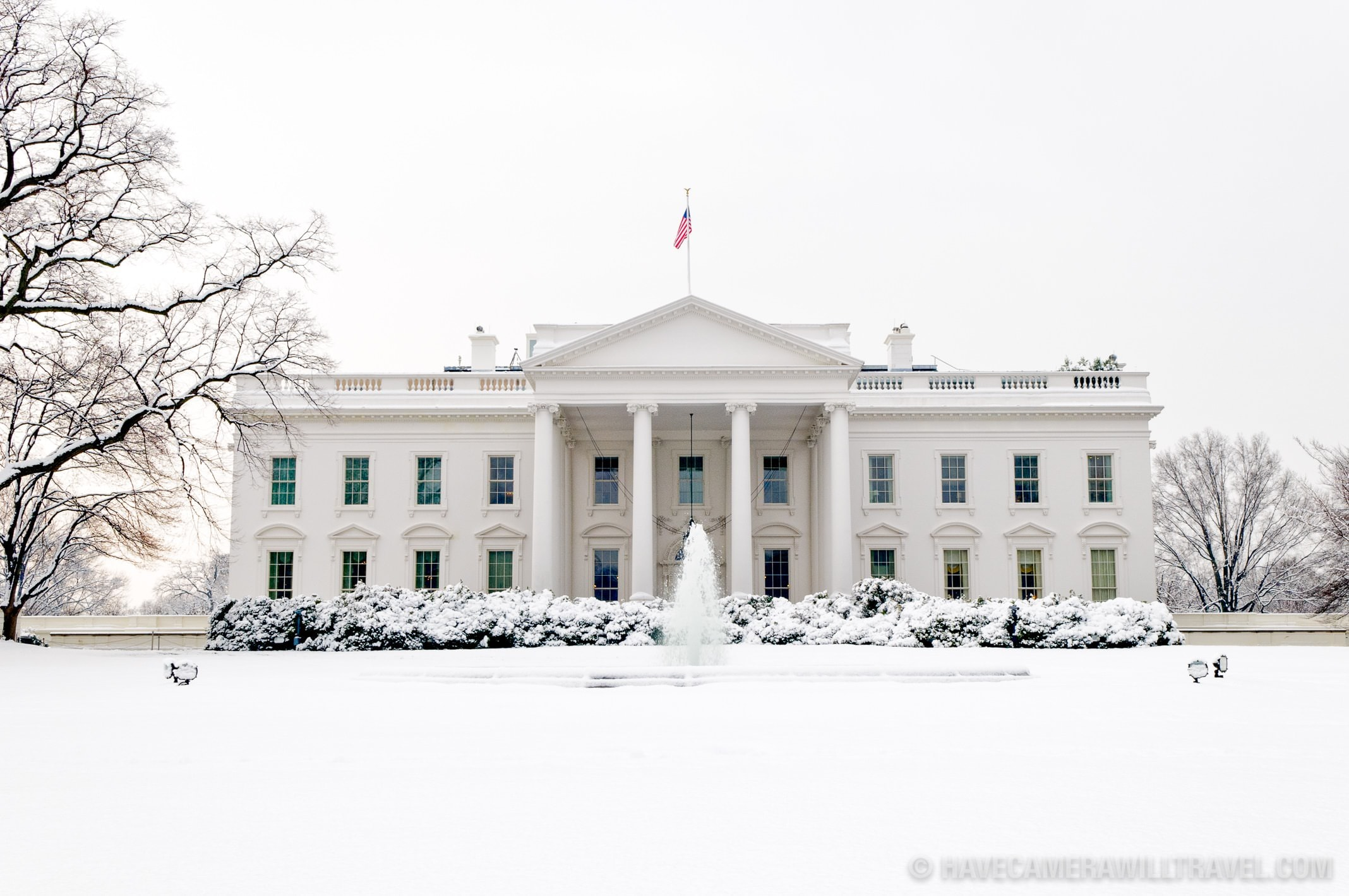 White House in the Snow