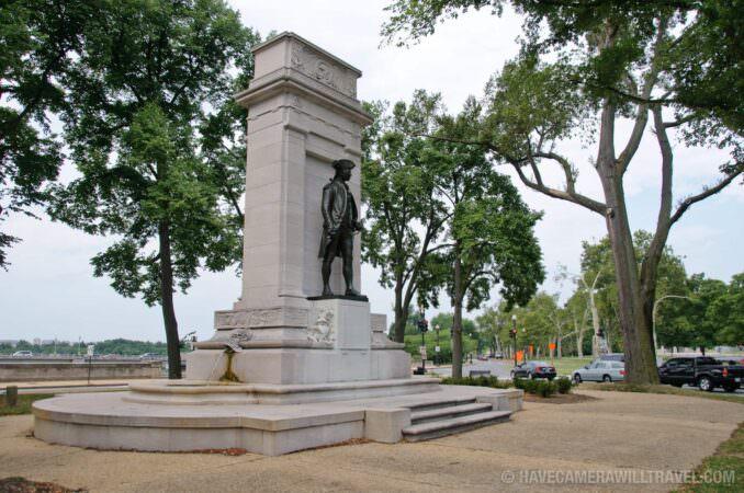 Wide Shot of John Paul Jones Memorial